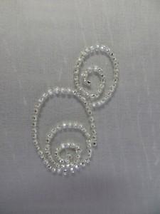 Broderie et perles